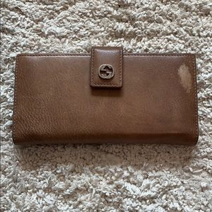 Gucci Tan Wallet Vintage